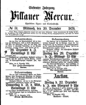 Pillauer Merkur vom 20.12.1876