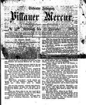 Pillauer Merkur vom 27.12.1876