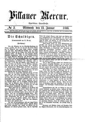 Pillauer Merkur vom 13.01.1886