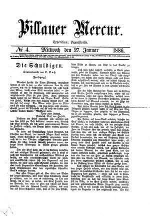 Pillauer Merkur vom 27.01.1886