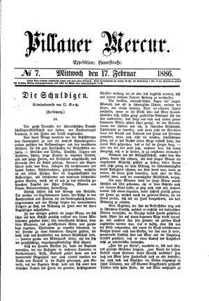 Pillauer Merkur vom 17.02.1886