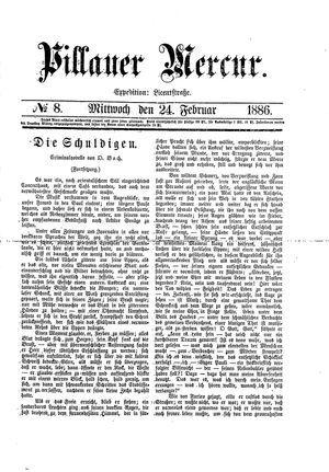 Pillauer Merkur vom 24.02.1886