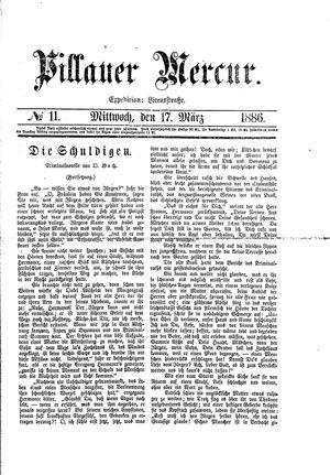 Pillauer Merkur vom 17.03.1886