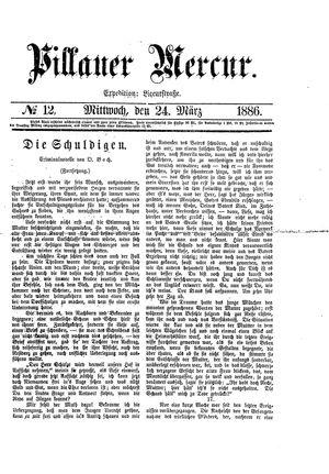 Pillauer Merkur vom 24.03.1886