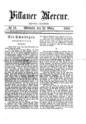 Pillauer Merkur vom 31.03.1886