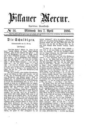 Pillauer Merkur vom 07.04.1886