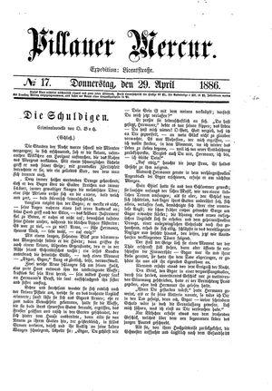 Pillauer Merkur vom 29.04.1886