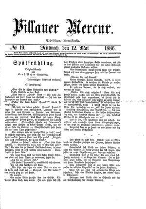 Pillauer Merkur vom 12.05.1886