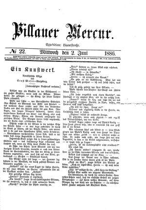 Pillauer Merkur vom 02.06.1886