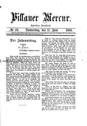Pillauer Merkur vom 17.06.1886