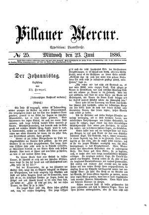 Pillauer Merkur vom 23.06.1886