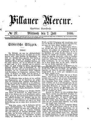 Pillauer Merkur vom 07.07.1886