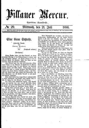 Pillauer Merkur vom 21.07.1886