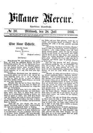 Pillauer Merkur vom 28.07.1886