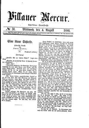Pillauer Merkur vom 04.08.1886