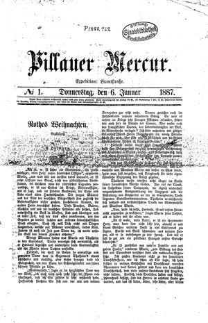 Pillauer Merkur vom 06.01.1887