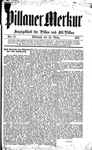 Pillauer Merkur vom 23.03.1887