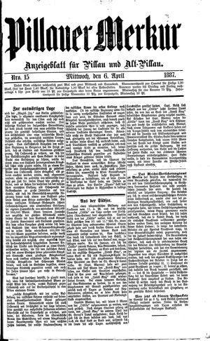 Pillauer Merkur vom 06.04.1887