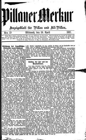 Pillauer Merkur vom 19.04.1887