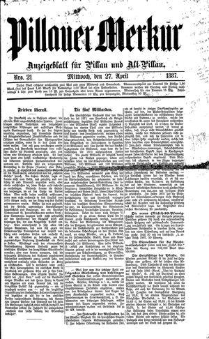 Pillauer Merkur vom 27.04.1887