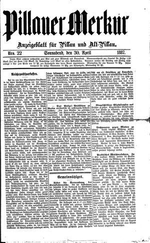 Pillauer Merkur vom 30.04.1887