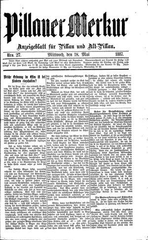 Pillauer Merkur vom 18.05.1887