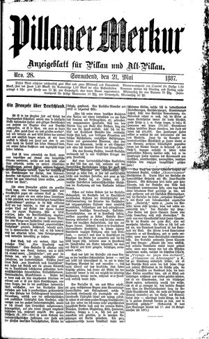 Pillauer Merkur vom 21.05.1887