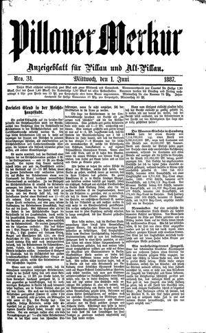 Pillauer Merkur vom 01.06.1887