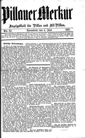 Pillauer Merkur vom 04.06.1887
