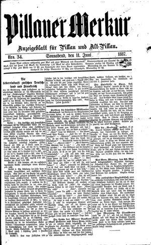 Pillauer Merkur vom 11.06.1887