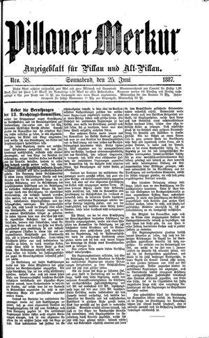 Pillauer Merkur vom 25.06.1887