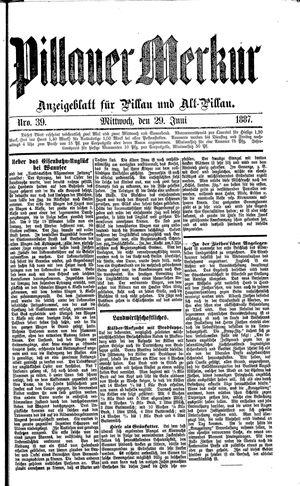 Pillauer Merkur vom 29.06.1887