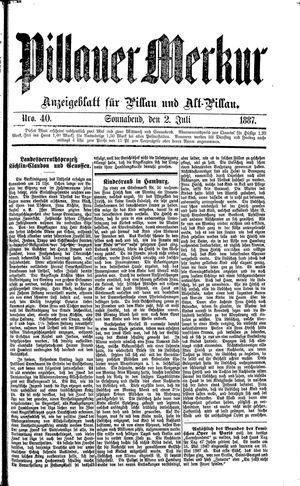 Pillauer Merkur vom 02.07.1887