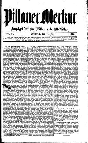 Pillauer Merkur vom 06.07.1887