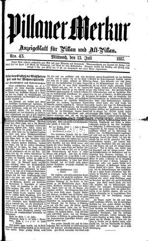 Pillauer Merkur vom 13.07.1887