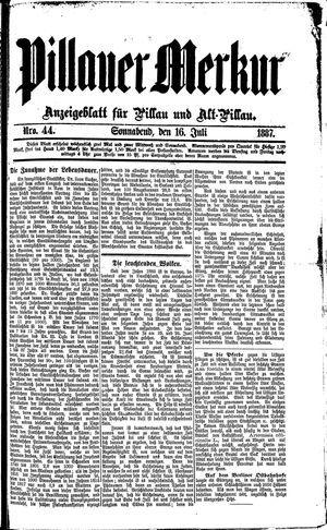 Pillauer Merkur vom 16.07.1887