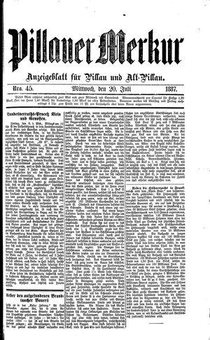 Pillauer Merkur vom 20.07.1887