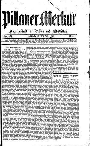 Pillauer Merkur vom 30.07.1887