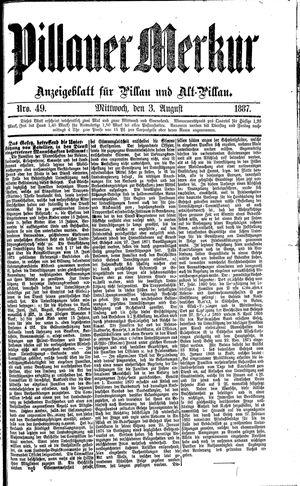 Pillauer Merkur vom 03.08.1887