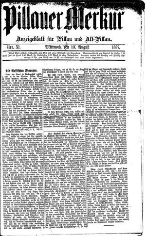 Pillauer Merkur vom 10.08.1887