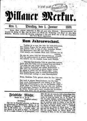 Pillauer Merkur vom 01.01.1889