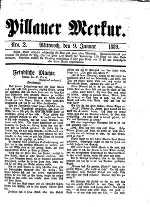 Pillauer Merkur vom 09.01.1889