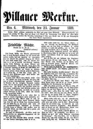 Pillauer Merkur vom 23.01.1889