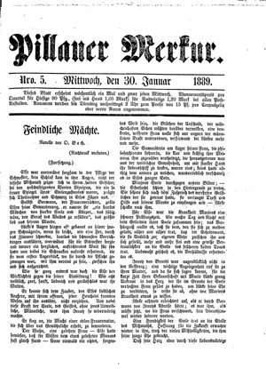 Pillauer Merkur on Jan 30, 1889