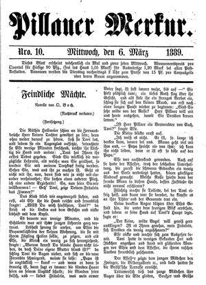 Pillauer Merkur vom 06.03.1889