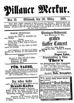 Pillauer Merkur vom 20.03.1889
