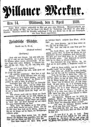Pillauer Merkur vom 03.04.1889