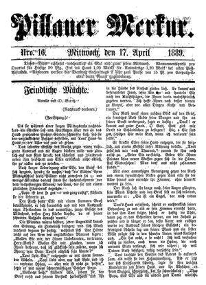 Pillauer Merkur vom 17.04.1889