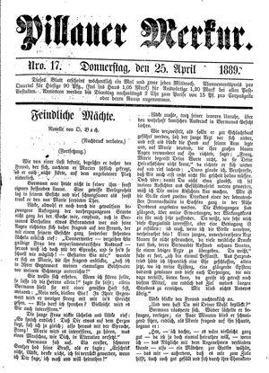 Pillauer Merkur vom 25.04.1889