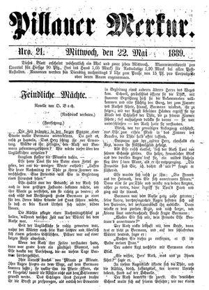 Pillauer Merkur vom 22.05.1889